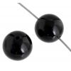 Black Onyx 4mm Round 41pcs Approx
